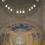 Cúpula  do Templo de Santa Luzia (fresco que representa a via sacra e ascenção de Cristo)
